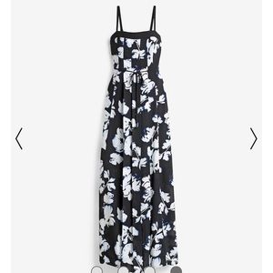 WHBM Pleated Floral Maxi Dress
